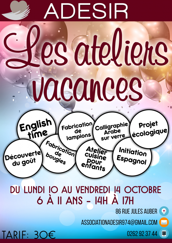 Les ateliers vacances by Adesir OI