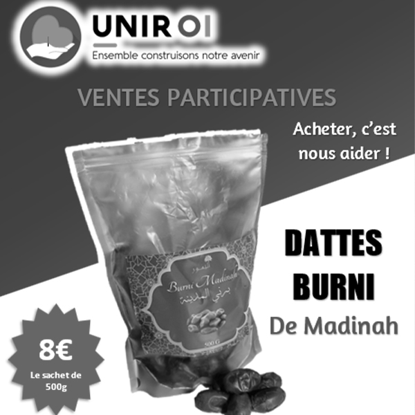 Offrir des dattes Burni de Madinah !
